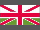 Britská vlajka s waleským zeleným polem