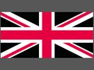 Britská vlajka bez skotské modré