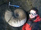 Ob�� amonit rodu Eupachydiscus. Ostrov James Ross, Dinn Cliffs, Antarktida,...