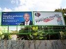 P�edvolebn� billboardy a plak�ty naplno zaplavily Brno. Prakticky na ka�d�m...