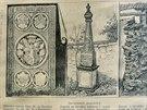 Památky na Žerotíny: náhrobní kámen, pomník  a zbytky bratrského chrámu