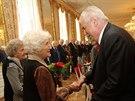 Prezident Miloš Zeman se na Hradě sešel s českými veterány z 2. světové války....