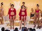 Přehlídka prádla navrženého zpěvačkou Britney Spears