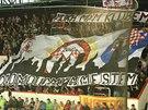 Fanoušci hokejistů Olomouce v prvním utkání po návratu do extraligy.