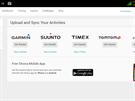 Možnosti synchronizace vašich zařízení s webem strava.com