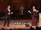 """V hlavních rolích opery """"Co tě žere"""" vystoupili Maria Ferrante a Scott Taylor."""