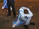 Zklamání soupenců skotské samostatnosti v Glasgow.