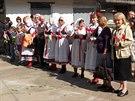 Čeští krajané vítají ministra zahraničí Lubomíra Zaorálka v ukrajinském...