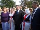 Čeští krajané v Žytomyru přivítali ministra zahraničí Lubomíra Zaorálka, jehož...