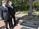 Ministr zahraničí Lubomír Zaorálek odhalil spolu s gubernátorem Žytomyrské...