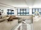 Obří byt s rozlohou téměř 350 metrů čtverečních zabírá 12. a 13. patro domu v...