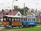 U p�íle�itosti oslav 120. výro�í m�stské hromadné dopravy v Ostrav� projí�dí ve �tvrtek 11. 9. 2014 m�stem konvoj historických tramvají.