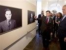 Prezident Miloš Zeman navštívil 16. září na Pražském hradě výstavu Tváře...
