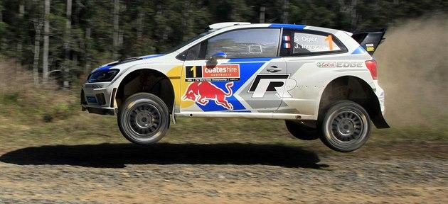 Sebastien Ogier v pr�b�hu první etapy Australské rallye.
