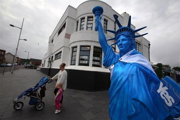 Podle posledních pr�zkum� by pro samostatnost Skotska hlasovalo 46 procent...