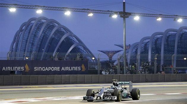 Nico Rosberg v tréninku na Velkou cenu Singapuru.