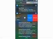 iOS 8 - na notifikace lze v Notifikačním centru jednoduše reagovat.
