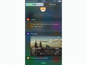 iOS 8 - zobrazení různých widgetů.