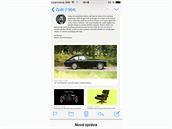 iOS 8 - rozepsan� e-mail lze skr�t do doln� li�ty.