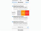 iOS 8 - vylepšená práce s náhledy e-mailů.