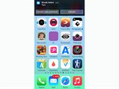 iOS 8 - na notifikace lze p�i pr�ci s telefonem reagovat.