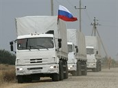 Ruský humanitární konvoj v sobotu dopoledne dorazil do Luhansku (13. zá�í)