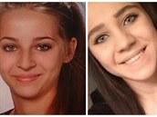 Patnáctiletá Sabina Selimovic (vpravo) a o rok star�í Samra Kesinovic v dubnu...