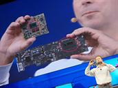Oproti p�edchoz� 22nm generaci zab�r� procesor polovi�n� plochu a m� i men�� profil. O v�ce ne� polovinu se sn�ila i velikost vzorov� z�kladn� desky.