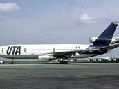 Letoun DC-10-30 společnosti UTA, který byl zničen při bombovém útoku v roce...
