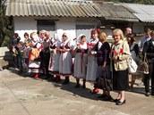 �e�tí krajané vítají ministra zahrani�í Lubomíra Zaorálka v ukrajinském...