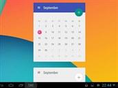 Miniaplikace Month: The Calendar Widget na domovskou obrazovku vašeho tabletu...
