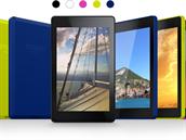 Nejlevn�j�í tablet Fire HD (2014) od Amazonu p�ichází v p�ti barvách.