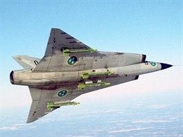 Letoun Saab 35C Draken