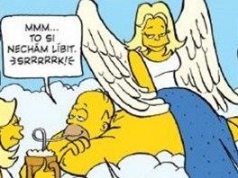 Z komiksu Simpsonovi - Příběhy ze záhrobí