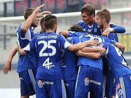 Radost fotbalistů Olomouce