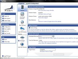 Uniklý screenshot programu FinSpy (z žádosti slovenského zákazníka o podporu).
