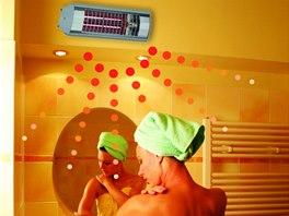 Sálavá topidla stačí zapnout v momentě, kdy teplo v koupelně potřebujeme. Topí