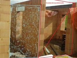 Umístění skleněných dveří
