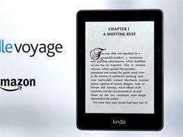 Kidle Voyage je nov� pr�miov� �te�ka Amazonu, nab�z� 300 zobrazovac�ch bod� na...