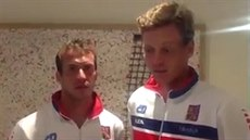 Radek �t�pánek a Tomá� Berdych