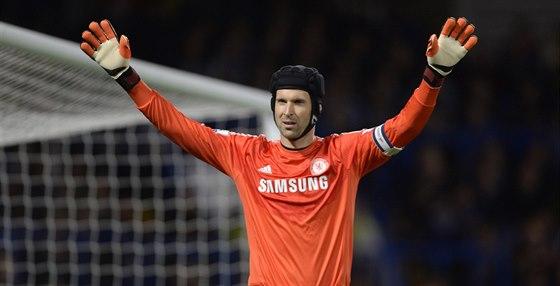 Petr Čech si za Chelsea zachytal poprvé v sezoně. Stalo se tak při utkání Ligového poháru s Boltonem.