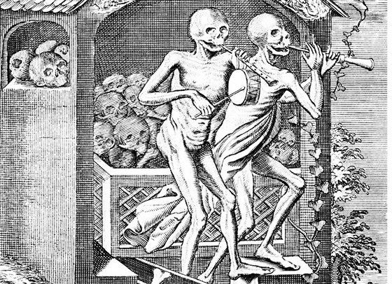 Podle sv�dectv� se mnoh� ob�ti tane�n� hysterie utancovaly k smrti.