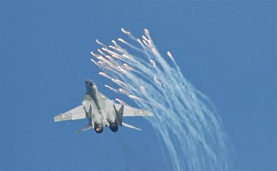 Letová ukázka slovenského MiG-29 na Dnech NATO v Ostravě
