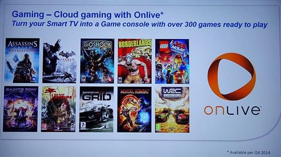 Novinky v nabídce cloudové herní platformy OnLive.