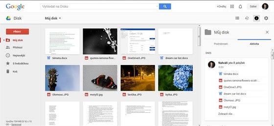 Internetové cloud úložiště Google Drive
