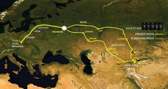 Cesta do Kyrgyzstánu začala 27. července, 3. srpna dojela do Moskvy, 8.8. do...