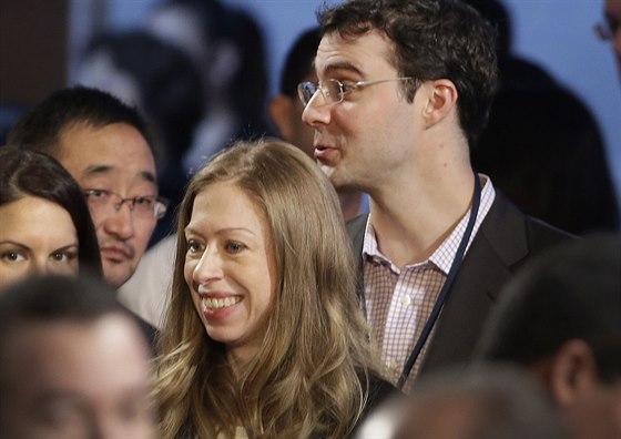 Chelsea Clintonová a Marc Mezvinsky (New York, 22. září 2014)