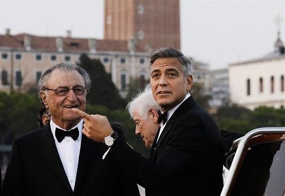 George Clooney a jeho tch�n Ramzi Alamuddin
