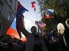 Moskevský mírový pochod proti ruskému nasazení na Ukrajině. (21. září 2014)