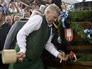 Mnichovský starosta Dieter Reiter zahajuje 181. ročník Oktoberfestu v Mnichově...